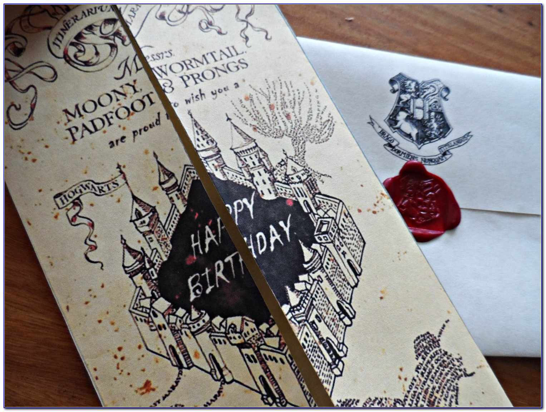 Harry Potter Birthday Card Print