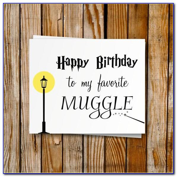 Harry Potter Birthday Card Printable Free