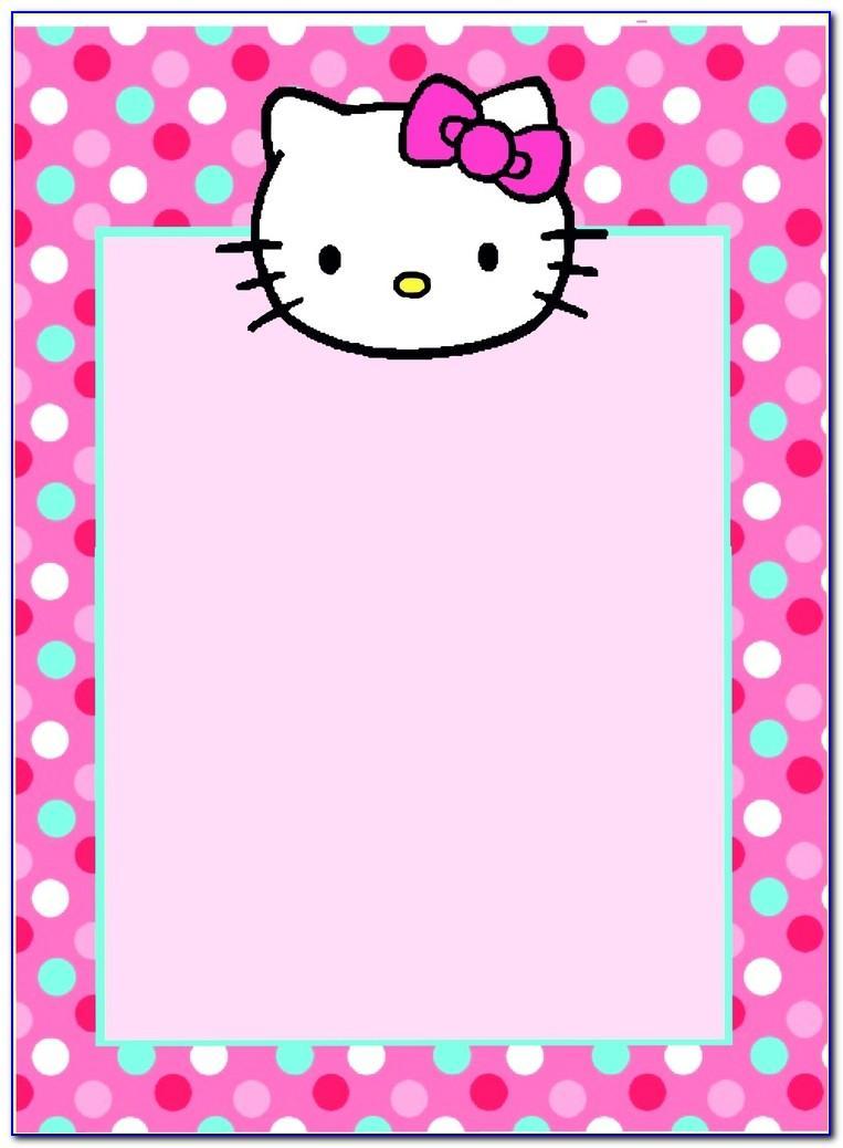 Hello Kitty Birthday Invitation Card Design