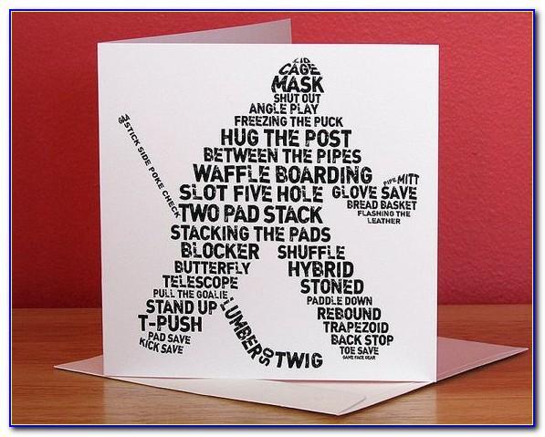 Hockey Birthday Card Template