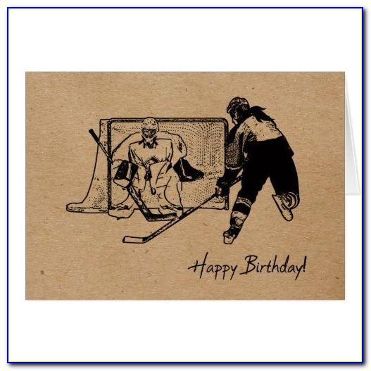 Hockey Birthday Cards Free Printable