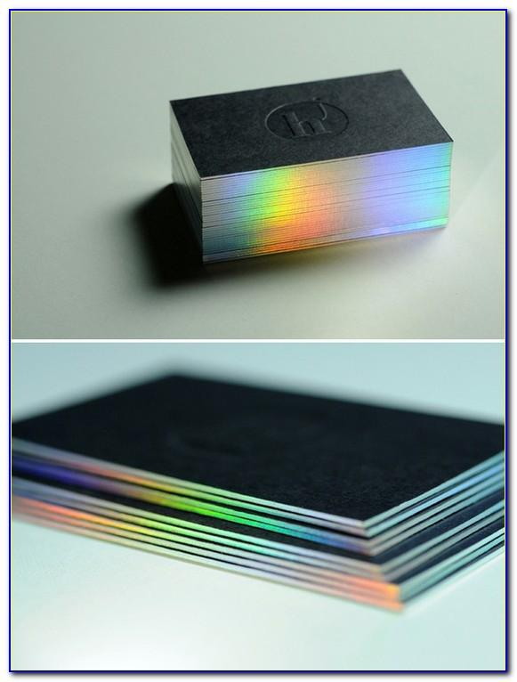 Holographic Edge Business Cards