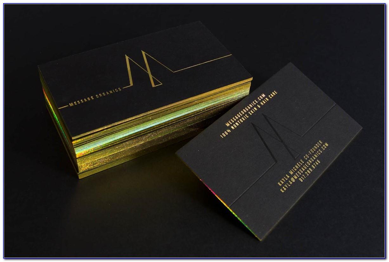 Holographic Foil Edge Business Cards