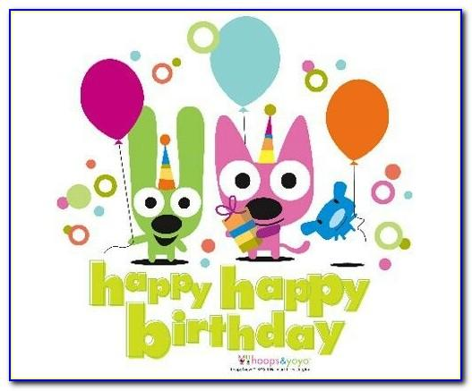 Hoops And Yoyo Birthday Ecards