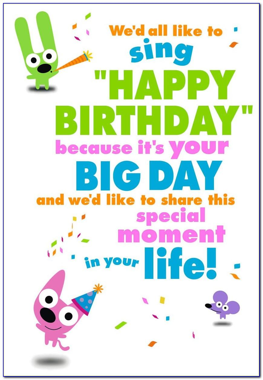 Hoops And Yoyo Happy Birthday Card