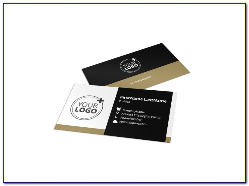 Hotel Business Card Template Vector