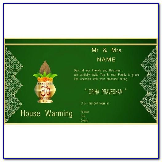 House Warming Ceremony Invitation Cards Free Download In Kannada