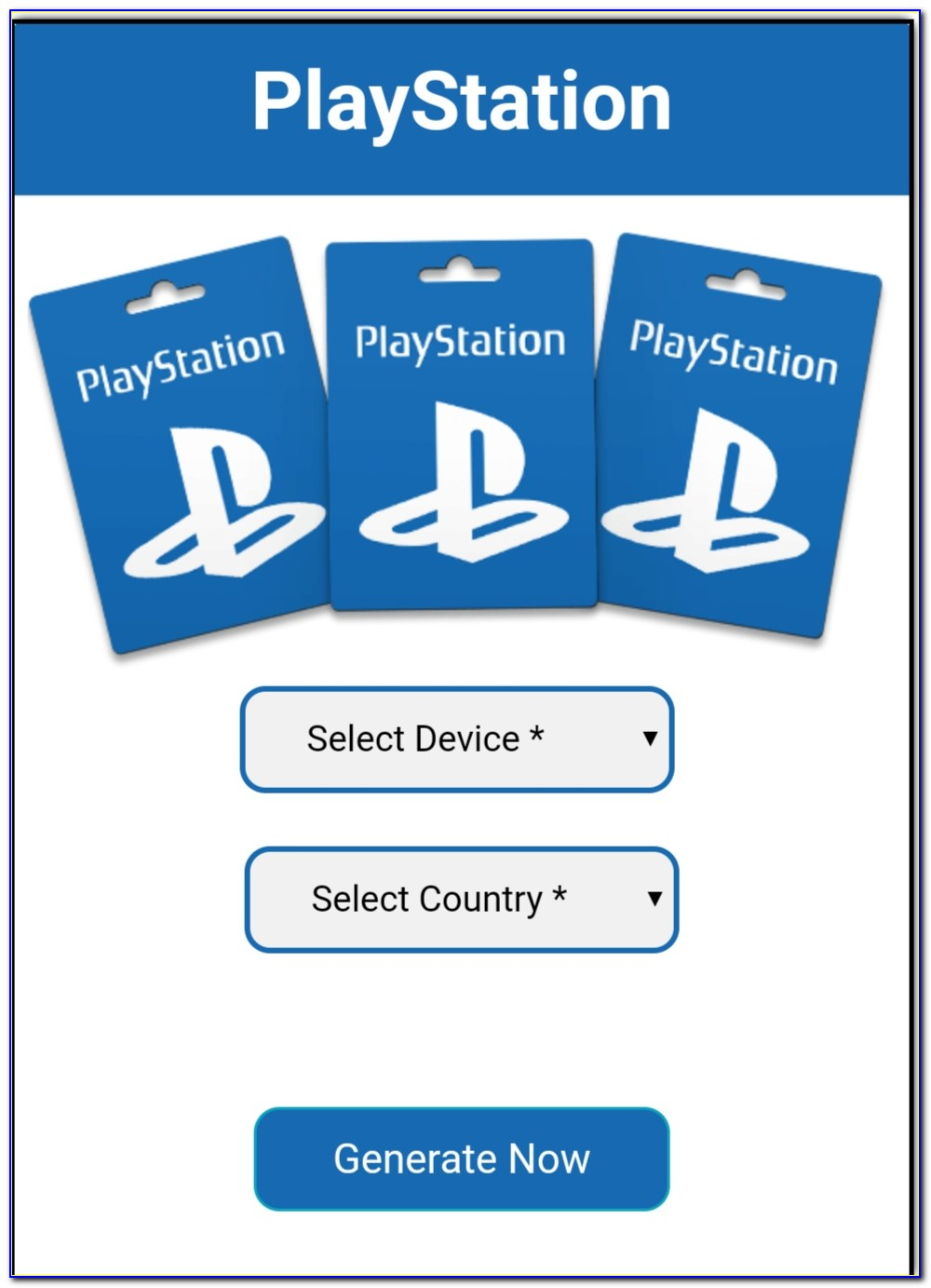 How To Get Free Playstation Gift Cards No Human Verification
