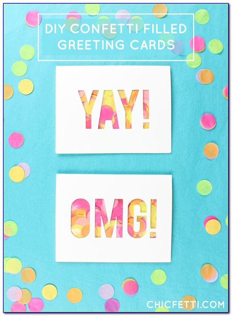 How To Make A Birthday Card That Shoots Confetti