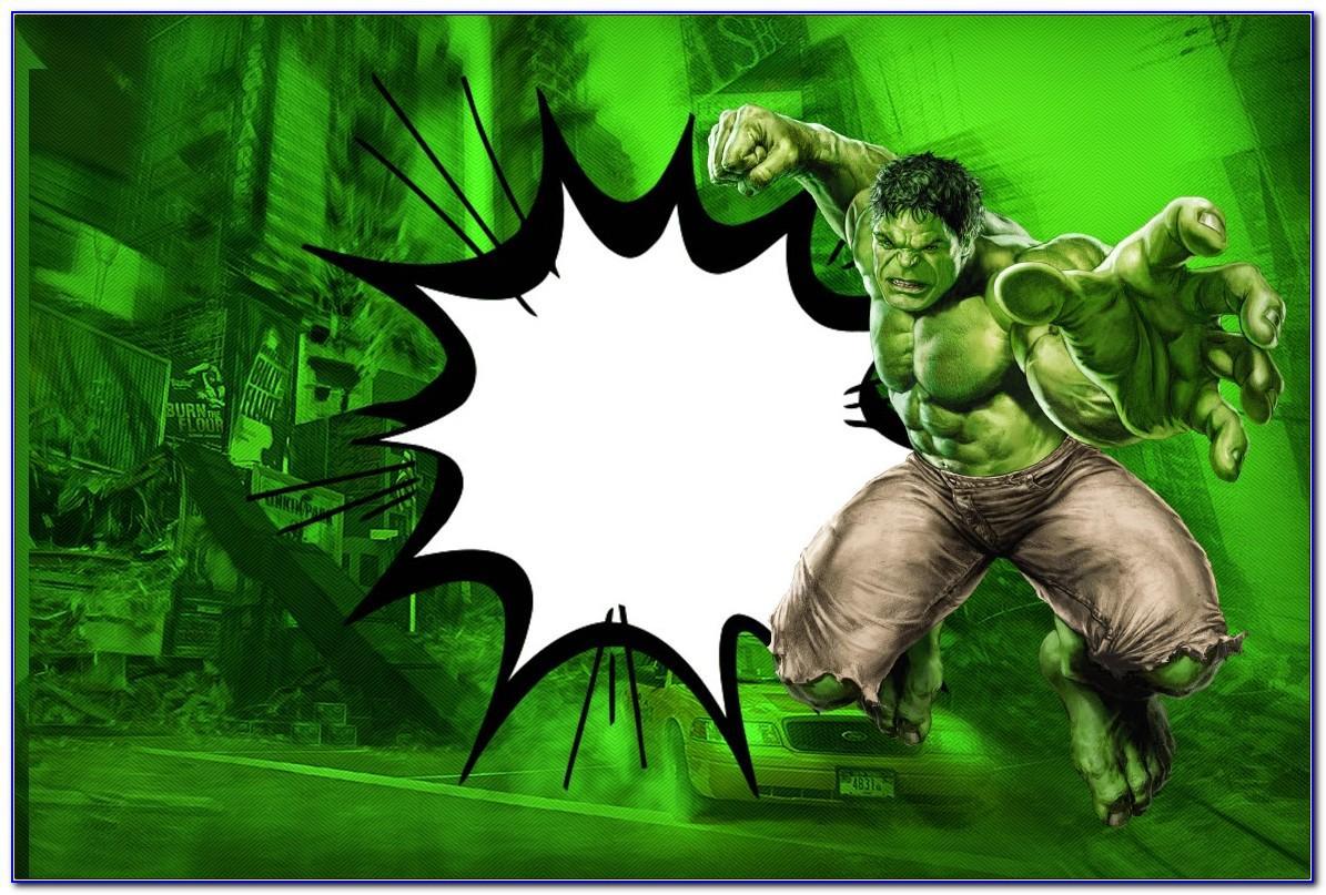 Hulk Birthday Card Printable Free