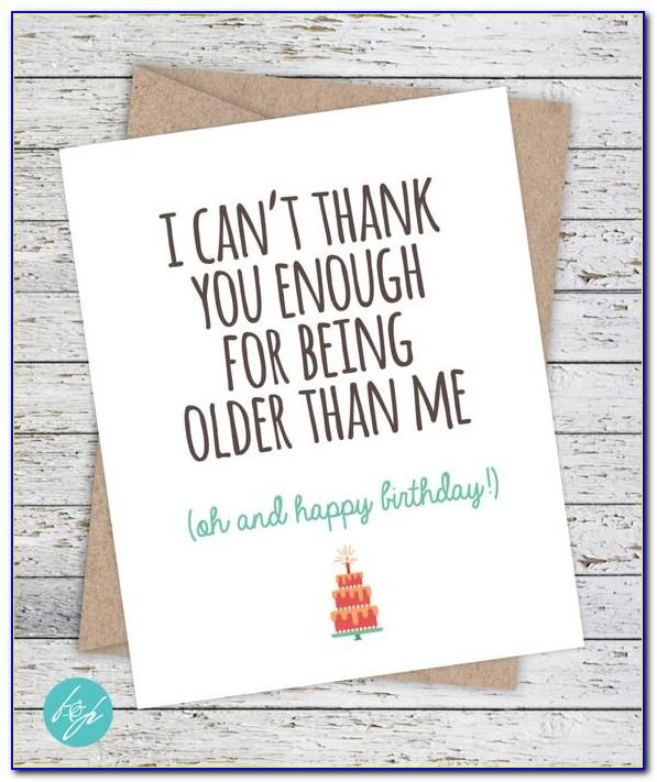 Humorous Brother Birthday Cards