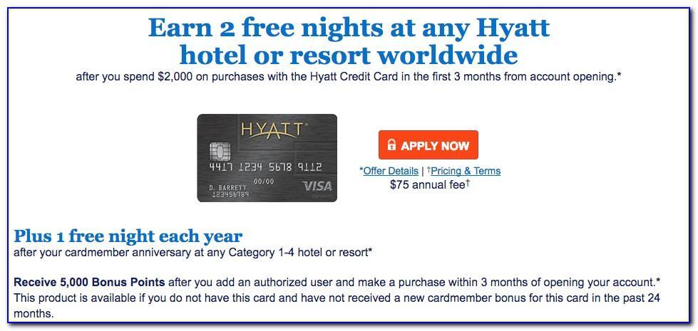 Hyatt Card Two Free Nights