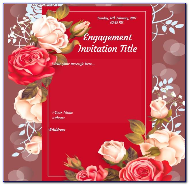 Indian Engagement Invitation Cards Online Free Download