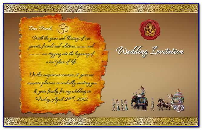 Indian Engagement Invitation Cards Psd Free Download