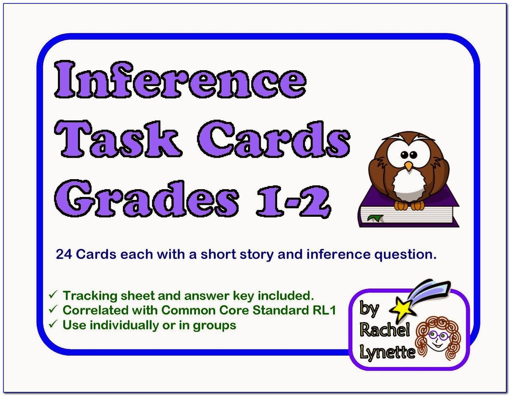 Inference Task Cards 3rd Grade Free