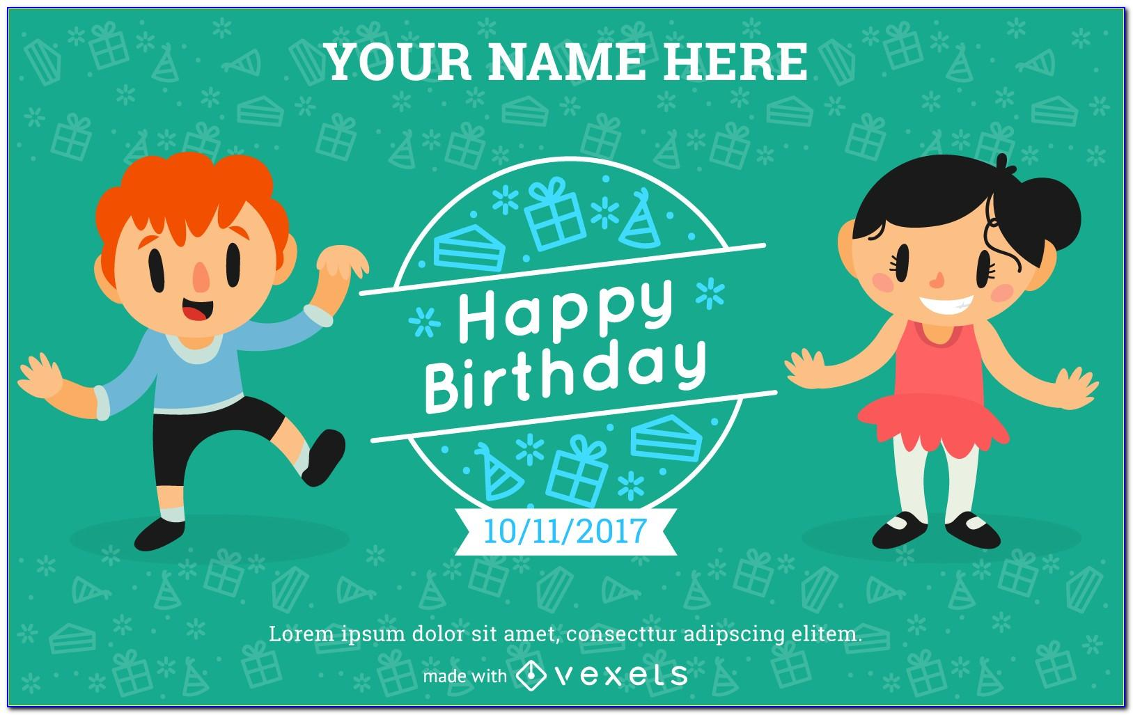 Invitation Card Design For Birthday Party Free
