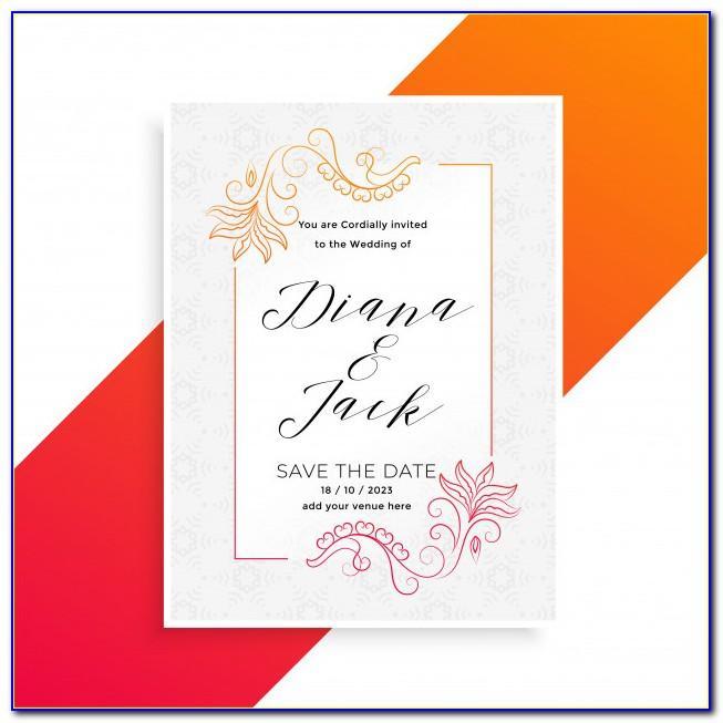 Invitation Card Design Template Free Download