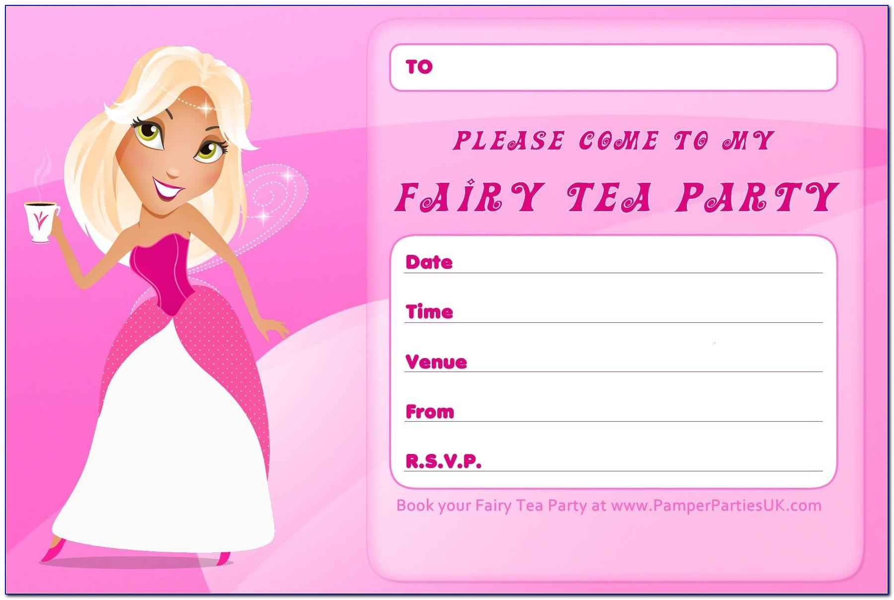 Invitation Card For Birthday Party Free Printable