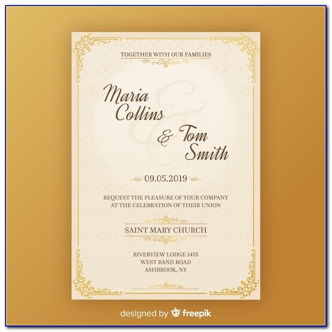 Invitation Card Template Download
