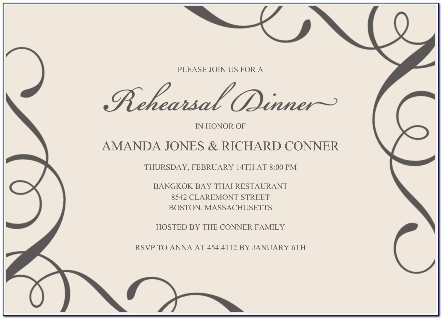 Invitation Card Template Free Word