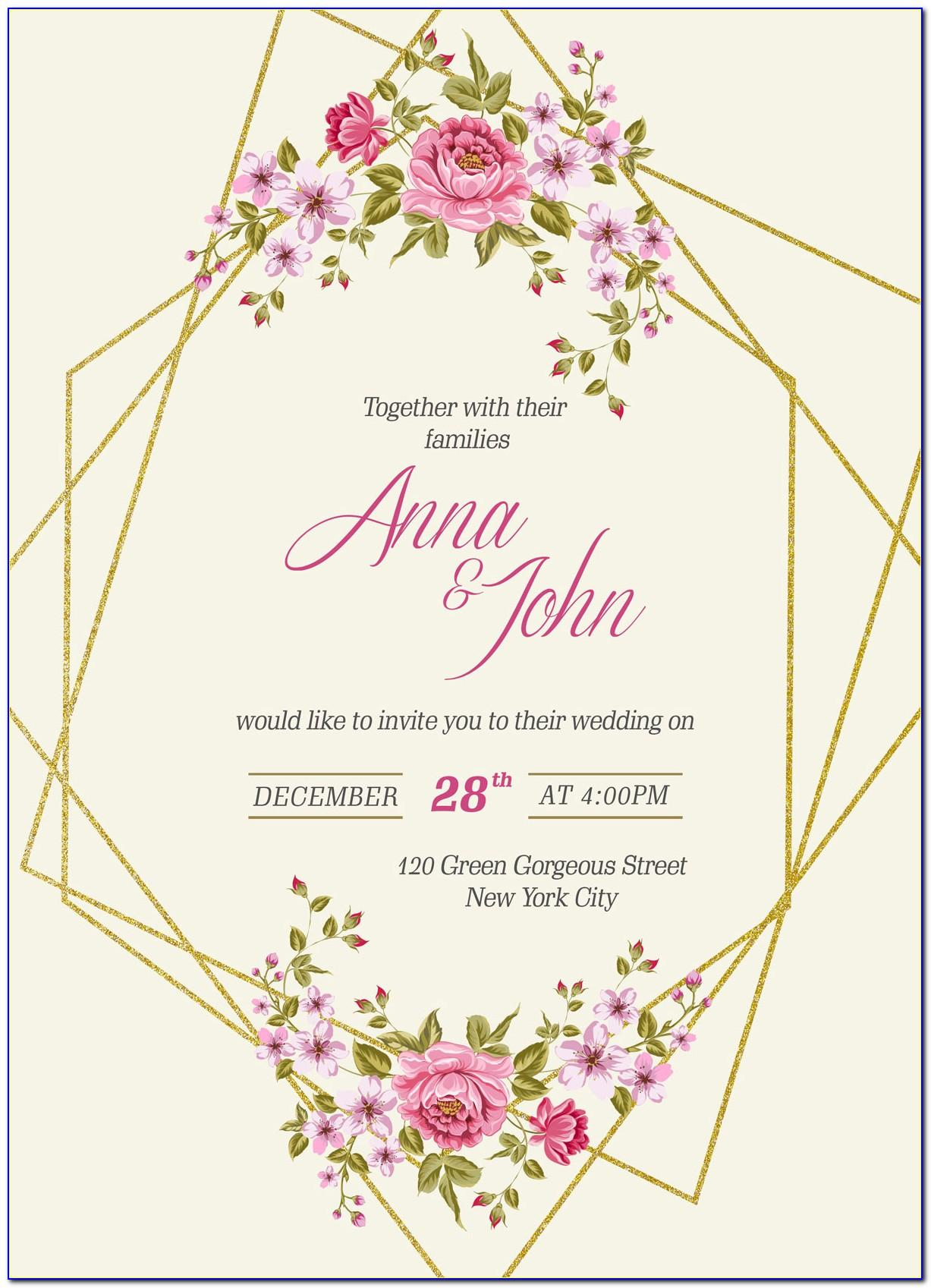Invitation Card Template Online Free