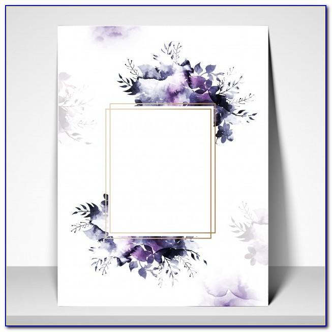 Invitation Card Template Pinterest