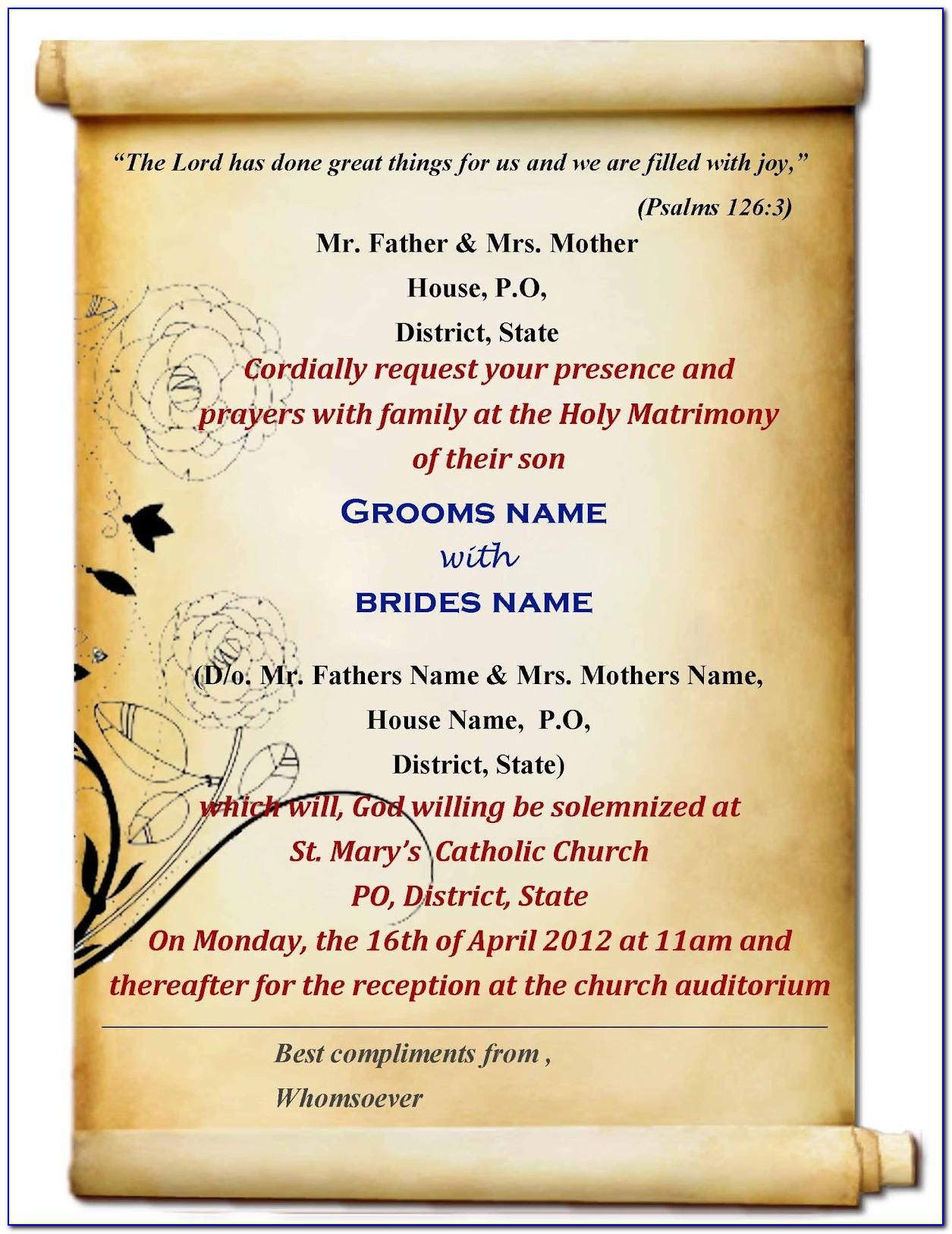 Invitation Card Template Powerpoint