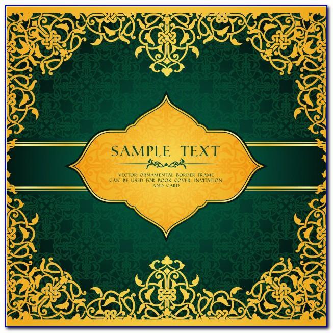Islamic Wedding Card Templates Free Download