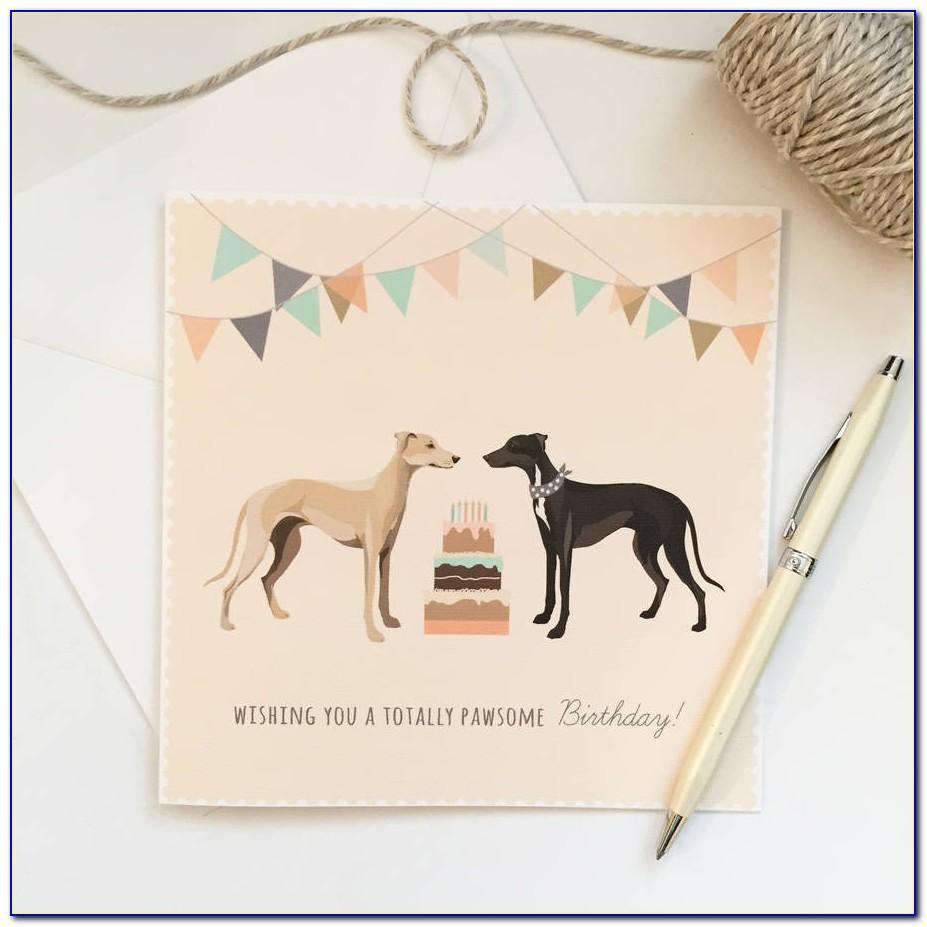 Italian Greyhound Birthday Card