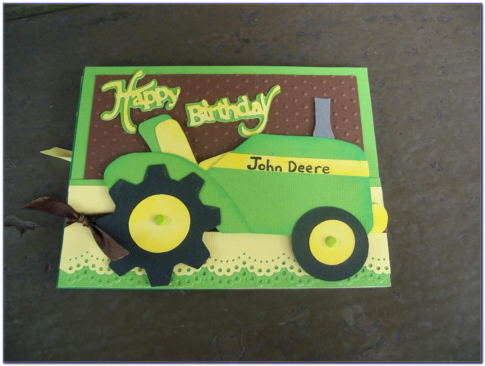 John Deere Birthday Cards Printable