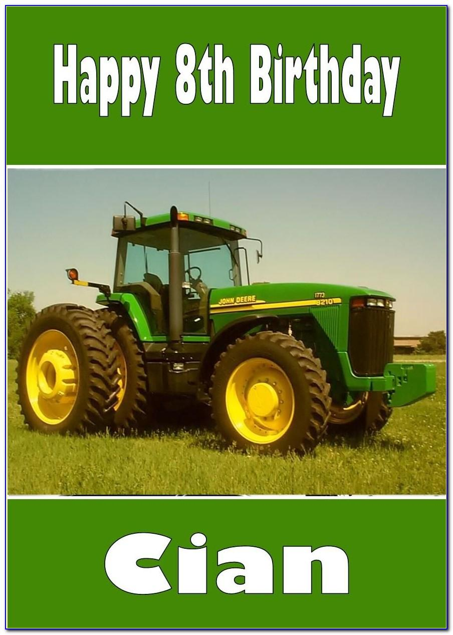 John Deere Birthday Cards Uk