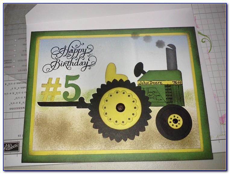 John Deere Tractor Birthday Cards