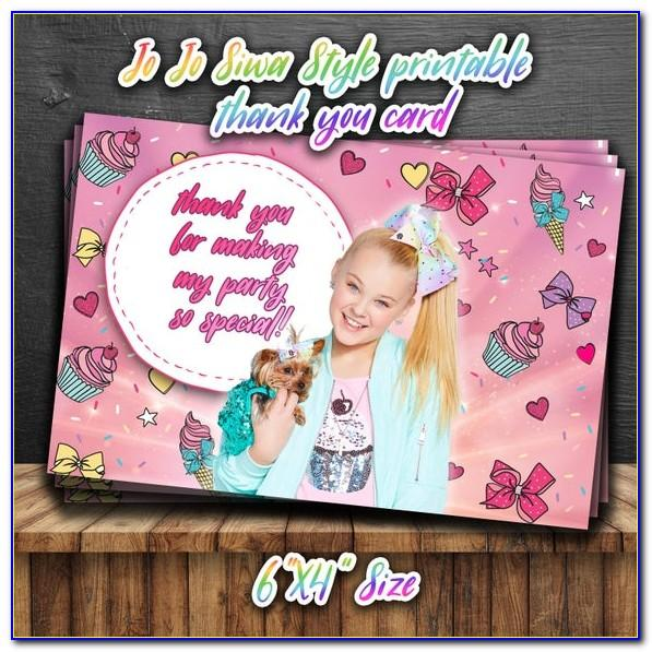 Jojo Siwa Birthday Card Australia