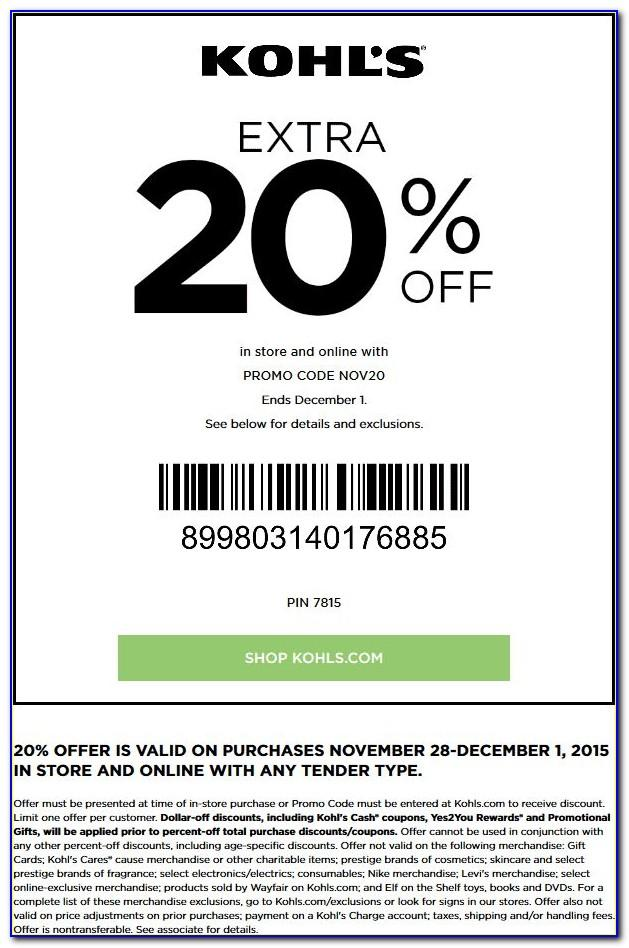 Kohls Coupons For Card Holders