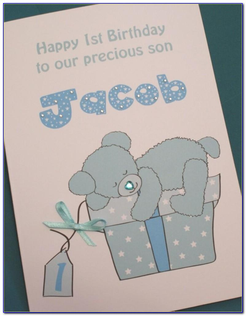 Large First Birthday Card