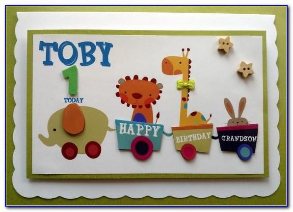 Large Granddaughter 1st Birthday Card