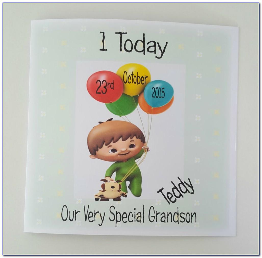 Large Son 1st Birthday Card