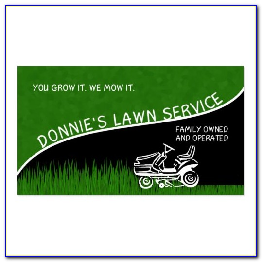 Lawn Business Card Templates