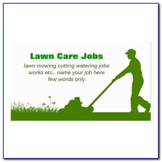 Lawn Care Business Cards Ideas