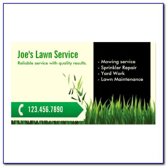 Lawn Mowing Business Card Templates
