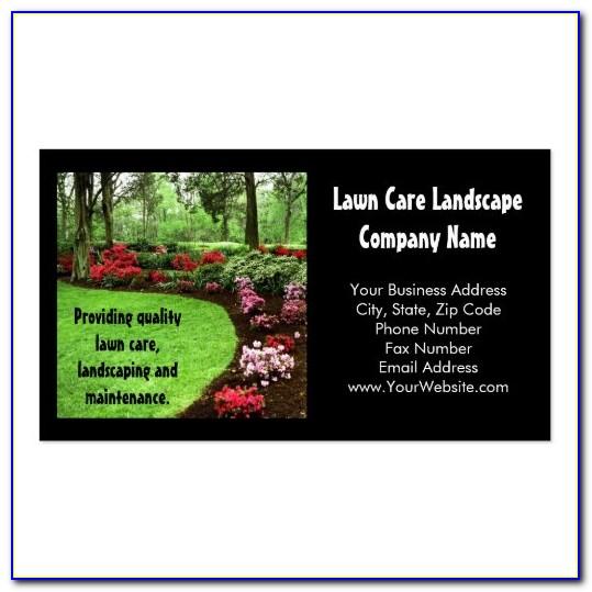 Lawn Service Business Card Ideas