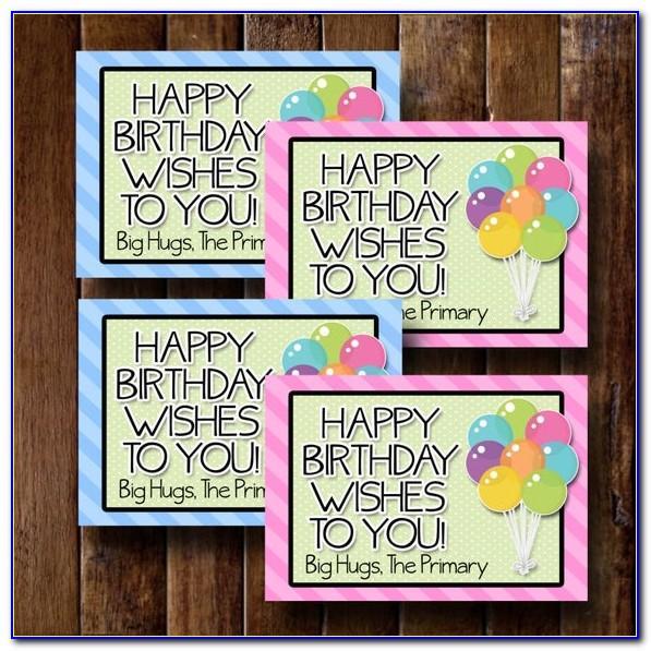 Lds Birthday Cards Free