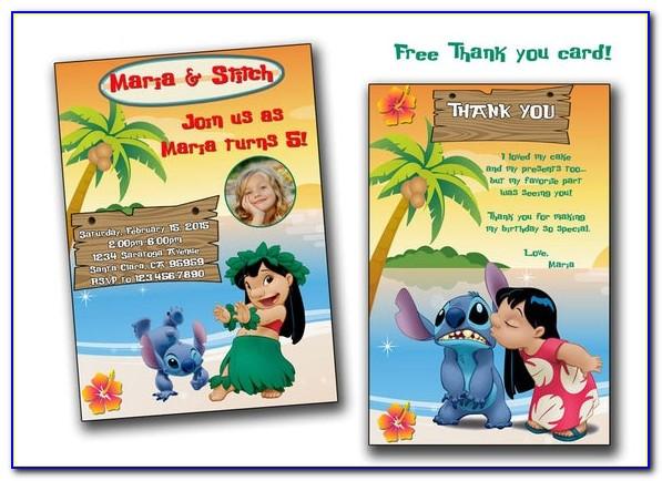Lilo And Stitch Birthday Card Uk