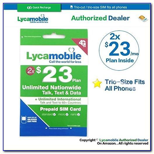 Lyca Sim Card Usa Plans
