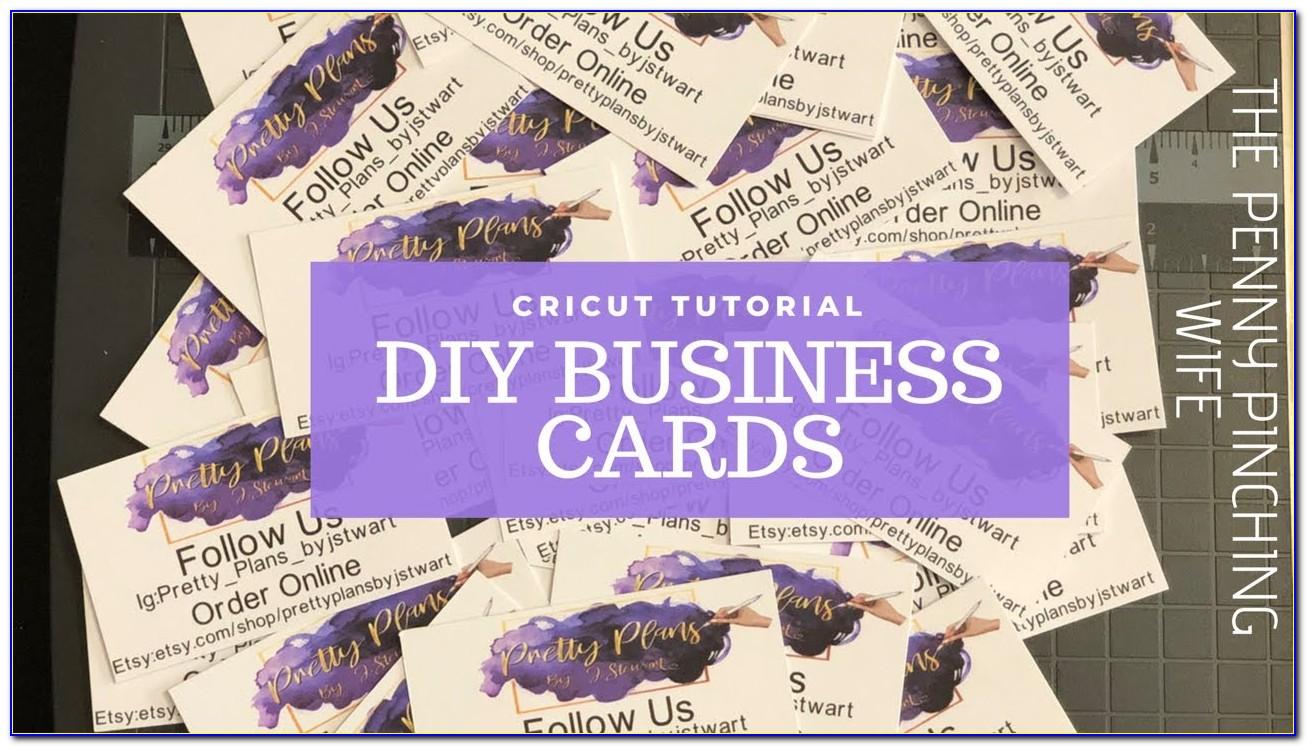 Make Business Cards On Cricut