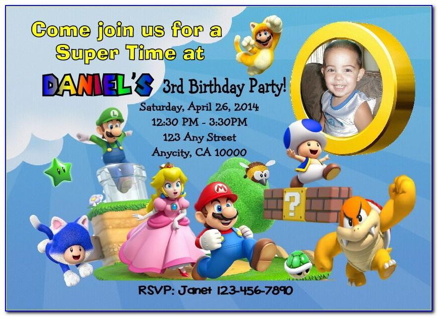 Mario Birthday Card Cricut
