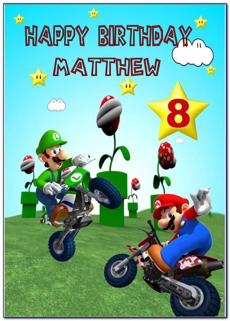 Mario Birthday Card Moonpig