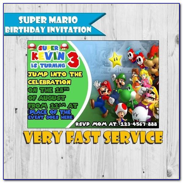 Mario Birthday Card Printable Free