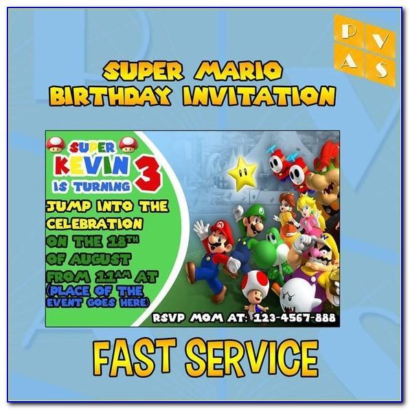 Mario Birthday Card Uk