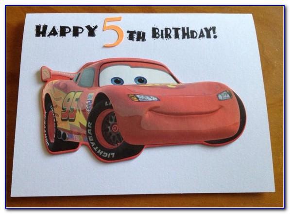 Mcqueen Birthday Card